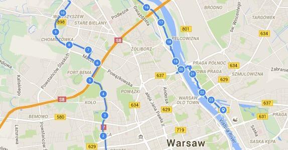 Pętla Warszawska – miejska wycieczka rowerowa – 1 lipca