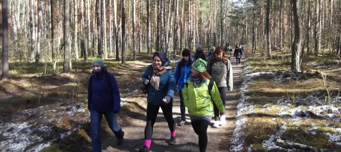 Z Truskawia do Młocin, spacer po Puszczy Kampinoskiej, sobota 11 marca