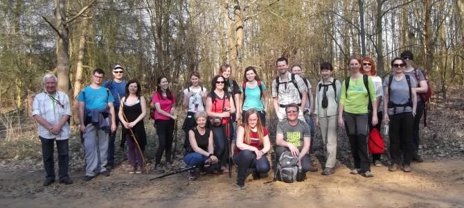 Do Leszna przez Roztokę, sobota 8 kwietnia